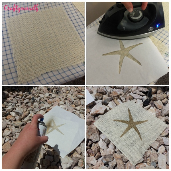 Starfish pillow making