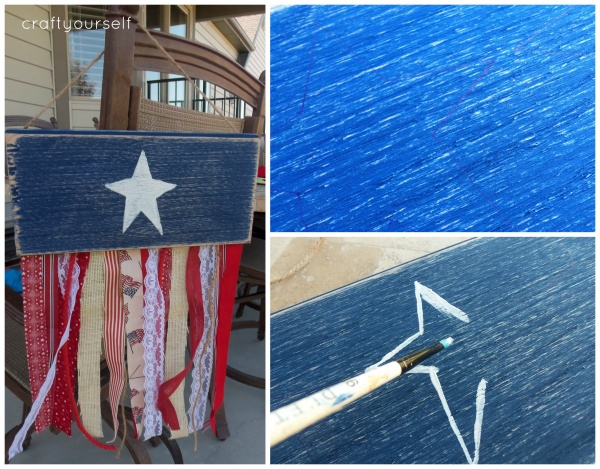 fringe flag with star