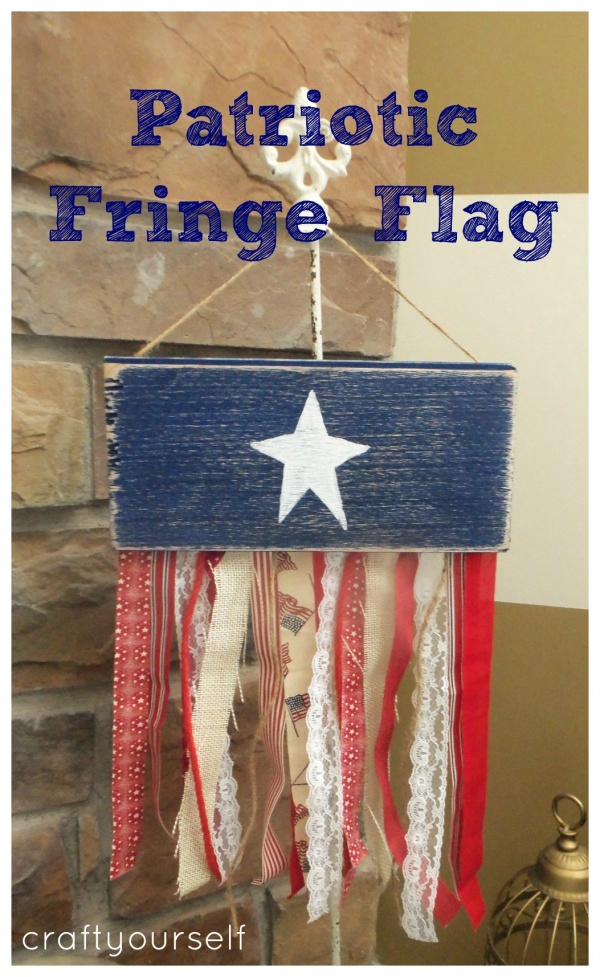 patriotic fringe flag