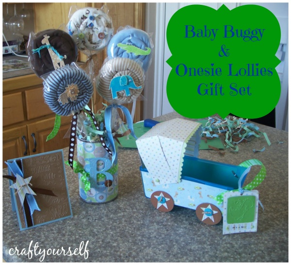 Baby buggy and lollies gift set