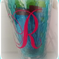 Monogrammed Drink Cup with Printable