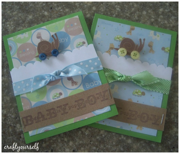 baby boy snail card