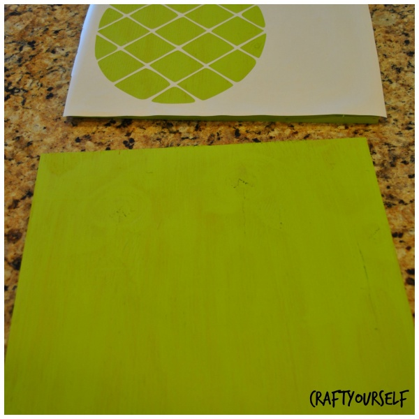 Lime green pineapple board
