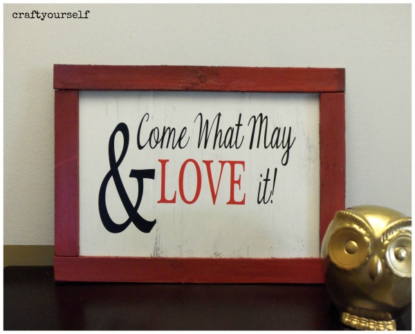 Trendy rustic wood sign