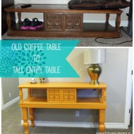 Upcycle an Old Coffee Table to a Tall Entry Table