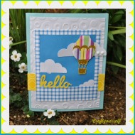 Hot air balloon handmade card