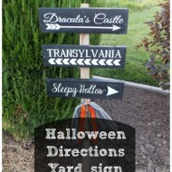 Halloween Directions yard sign