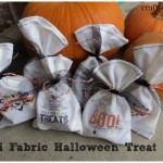 Mini fabric halloween treat bags