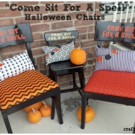 """Come Sit For A Spell"" Halloween Chairs"
