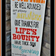 Advice from a Pumpkin Home Decor Wood Sign