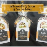 Halloween party favors with free printables