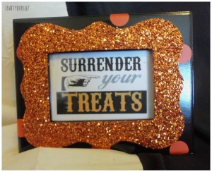 glitter frame orange surrender treats