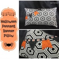 Halloween pennant banner pillow