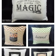 Halloween print and transfer pillows