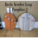 rustic wooden scrap pumpkins