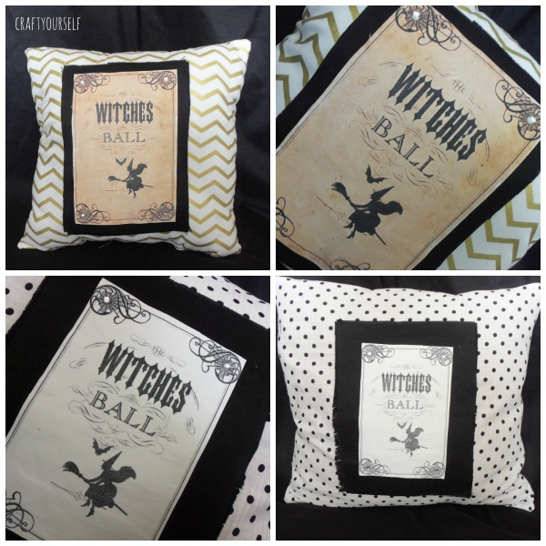 witches ball pillow
