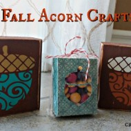 Hand Made Fall Acorn crafts with Free Templates