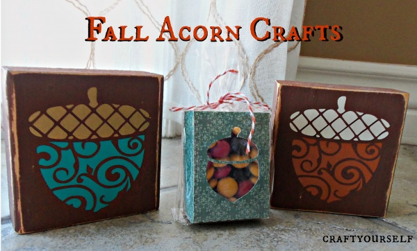 Fall acorn crafts