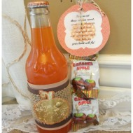 Fall Orange Soda with a Treat and Free Printable