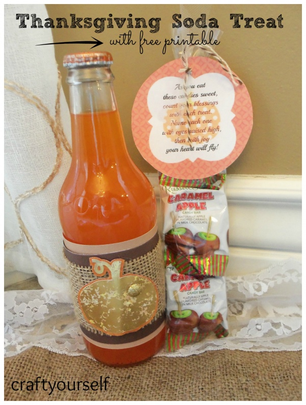 Thanksgiving soda treat with free printable