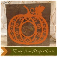 Trendy Aztec Pumpkin Decor