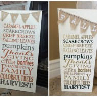 Fall Burlap & Subway art board