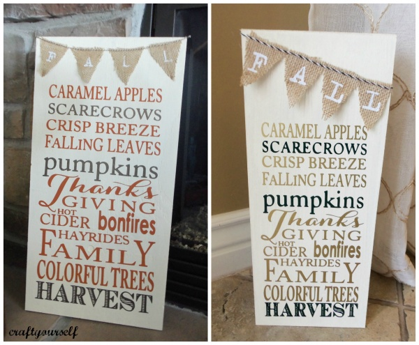 fall harvest boards