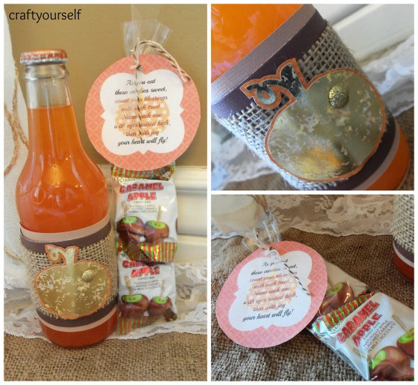 fall soda bottle &treat