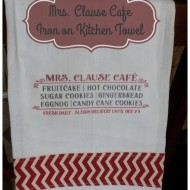 Mrs. Clause Café Iron on Kitchen towel