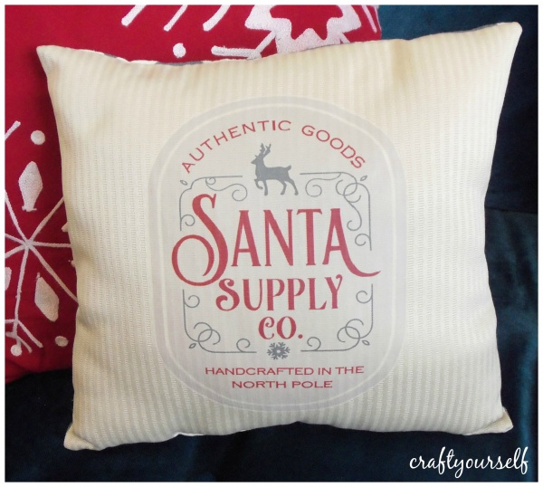 Santa suppy pillow