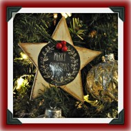 DIY Christmas Star Ornaments and Framed Reindeer