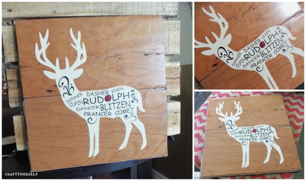reindeer subway art board