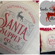 Santa Supply Co. Iron on pillow