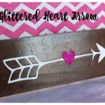glittered heart arrow