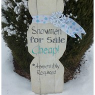 Shaped Pallet Snowman for sale sign