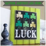 glittered shamrock luck board