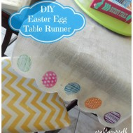 DIY Easter Egg Burlap Table Runner