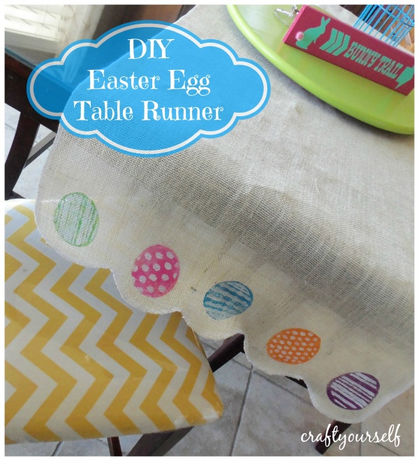 Diy easter egg table runner