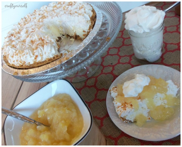 perfect pina coloda pie