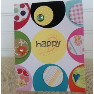 Happy handmade card using scrap paper