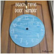 "DIY ""Beach Time"" Round Door hanger Tutorial"