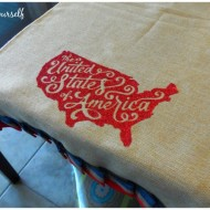 Patriotic July table runner