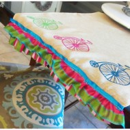 DIY Summer Table Runner – Keeping it Clean and Bright
