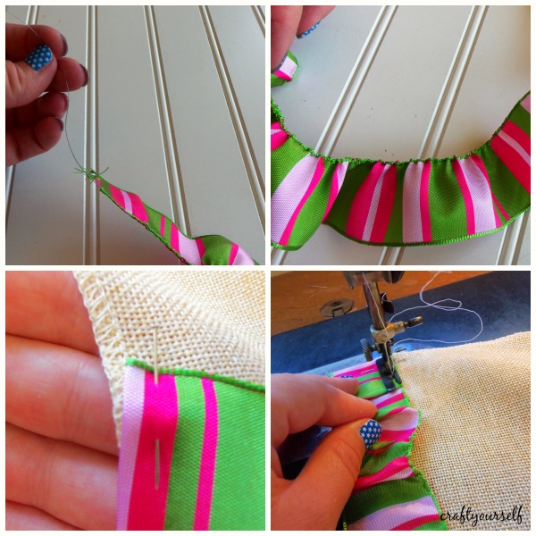 table runner ribbon