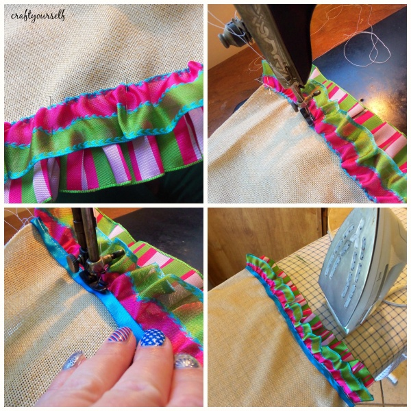 table runner sewing ribbon
