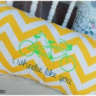 """I Wheelie like you"" Bike Pillow"
