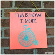 This is How I Roll Bike Sign