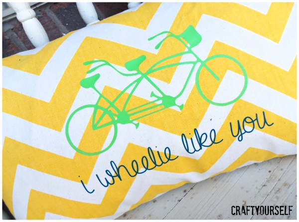 wheelie like you bike pillow