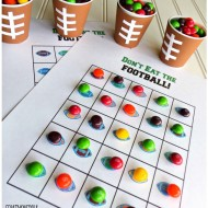 """Don't Eat the Football"" Game and Football Skittles collecting cup tutorial"