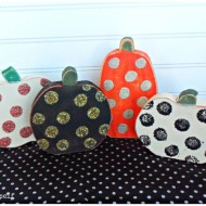 Polka Dot Mini Pumpkins make over DIY